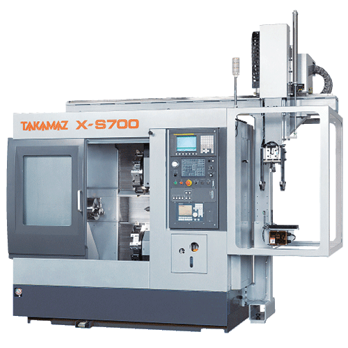 TAKAMAZ, X Series, X-S700, Twin turret, High accuracy, space saving, Automated Turning Center