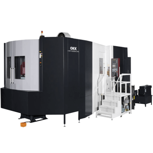 OKK, HM Series, HM1250S, Superior performance ensuring high-speed machining, rigidity, reliability, and chip evacuation, Horizontal Machining Center