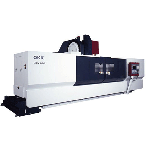 OKK, 5AX Series, KCV800-5AX, Efficient machining of long workpeices with 5-axis spindle head capability, 5-Axis Machining Center
