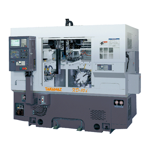 TAKAMAZ, XD Series, XD-10i, High efficiency, compact, high speed servo turret, Two spindle One slide, chuck size 5, 6, 8, Automated Turning Center