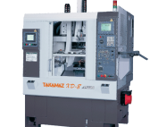 TAKAMAZ, XD Series, XD-8 Pus, High rigidity, high accuracy, linear turret, Two spindle One slide, chuck size 5, 6, 8, Automated Turning Center