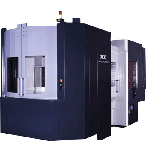 OKK, HM Series, HM1000S, Superior performance ensuring high-speed machining, rigidity, reliability, and chip evacuation, Horizontal Machining Center