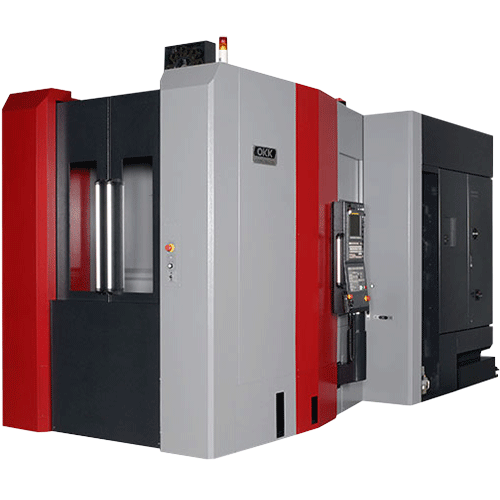 OKK, HM Series, HMC500, Superior performance ensuring high-speed machining, rigidity, reliability, and chip evacuation, Horizontal Machining Center