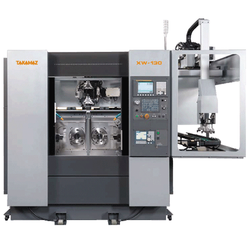 TAKAMAZ, XW Series, XW-130, High speed, high accuracy, compact body, Two spindle, Two slide, Two turret, Chuck Size 3, 4, 6, 8, 10, Gang type and Drum type, Automated Turning Center